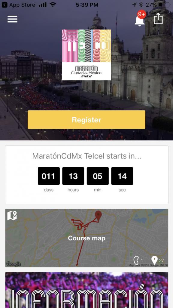 app maraton ciudad de mexico 2018