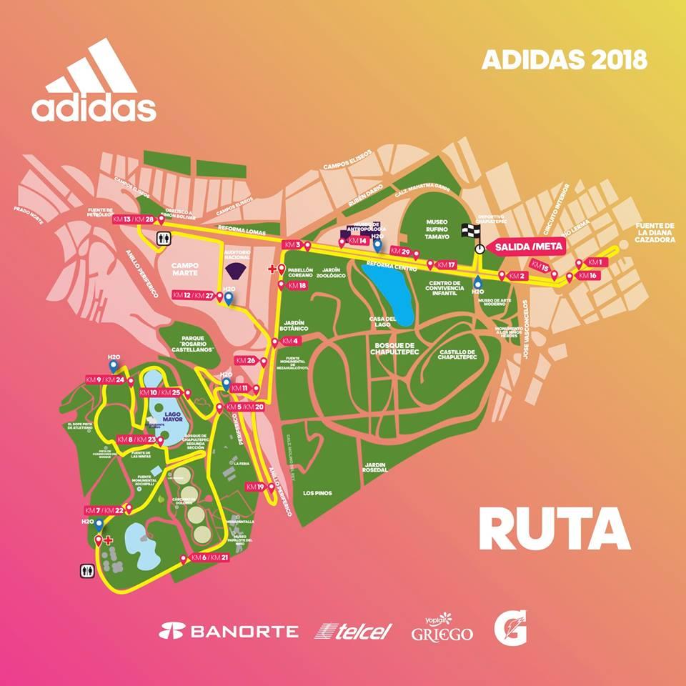 ruta split adidas 30K 2018