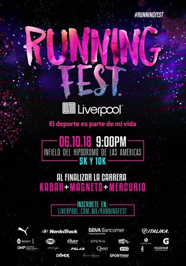 running fest liverpool 2018 concierto magneto kabah