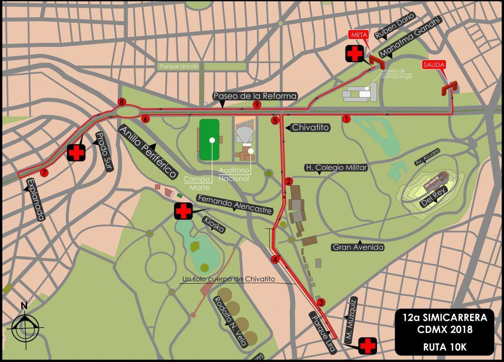 ruta simicarrera cdmx 10k 2018