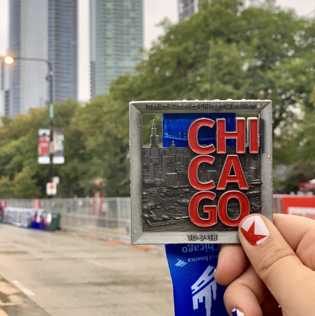 medalla maraton chicago 2018