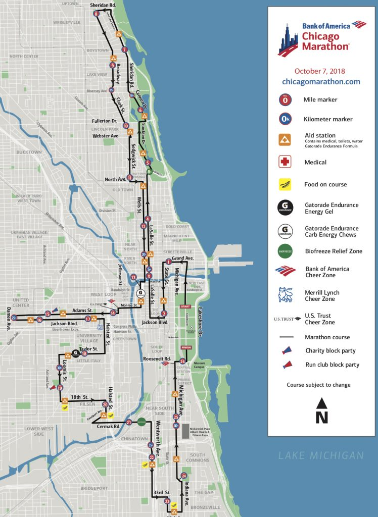 ruta maraton de chicago 2018