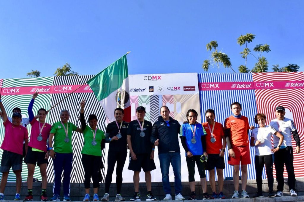 medalla reconocimiento 6 maratones maraton cdmx
