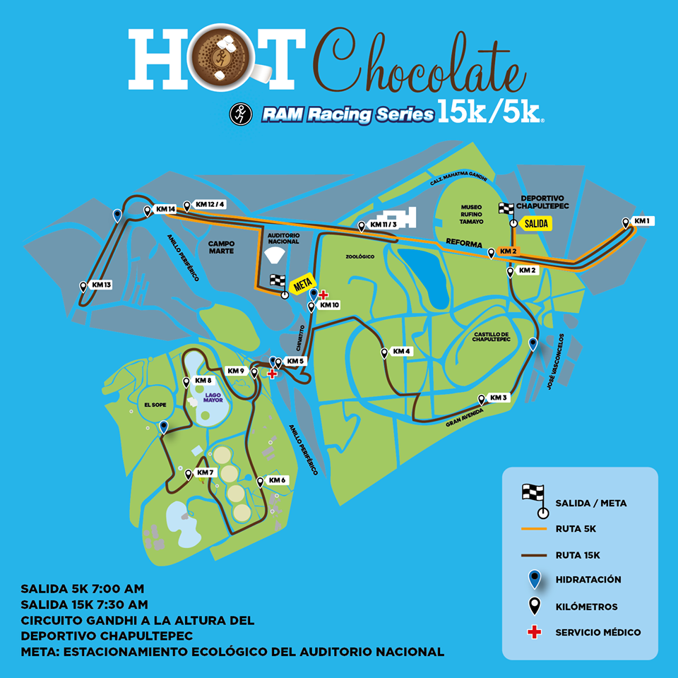 ruta hot chocolate 15k mexico
