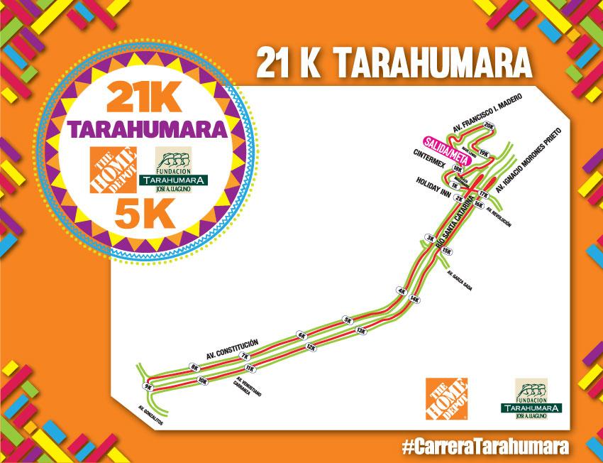 ruta 21k tarahumara 2019