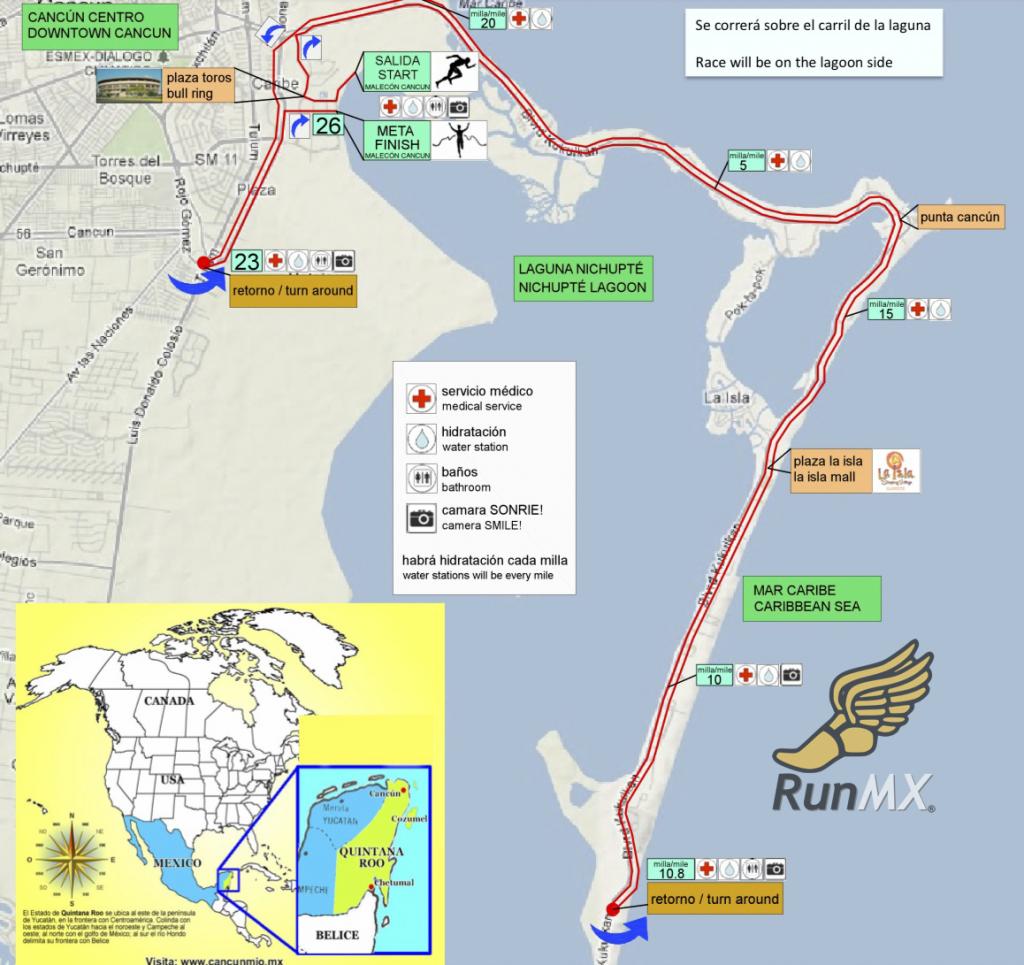 ruta maraton cancun 2018