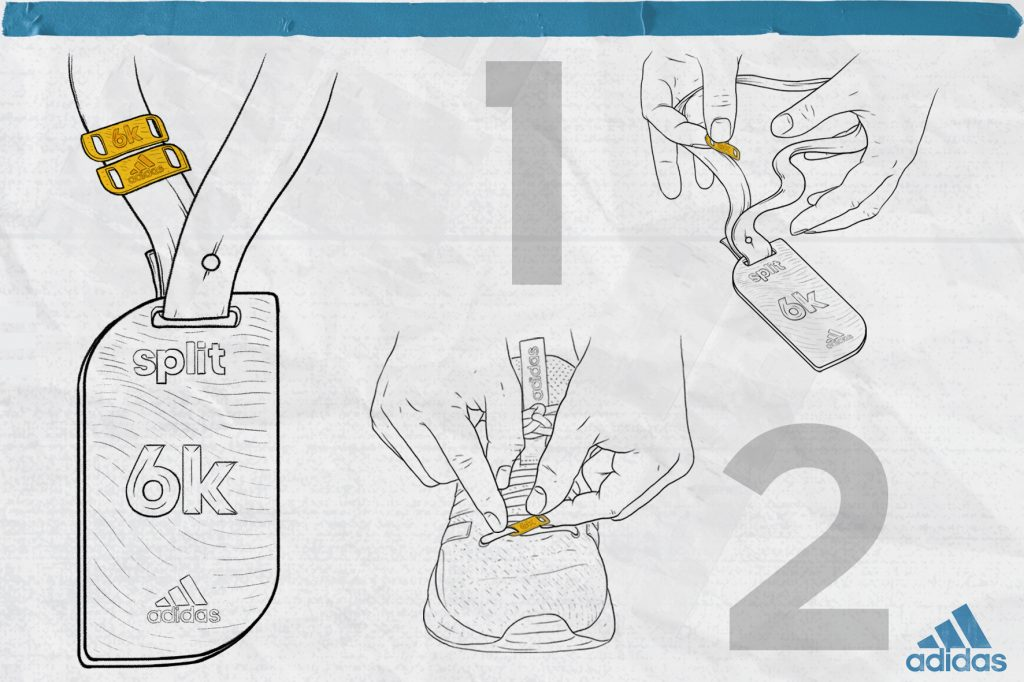 Split adidas 6K lacelocks