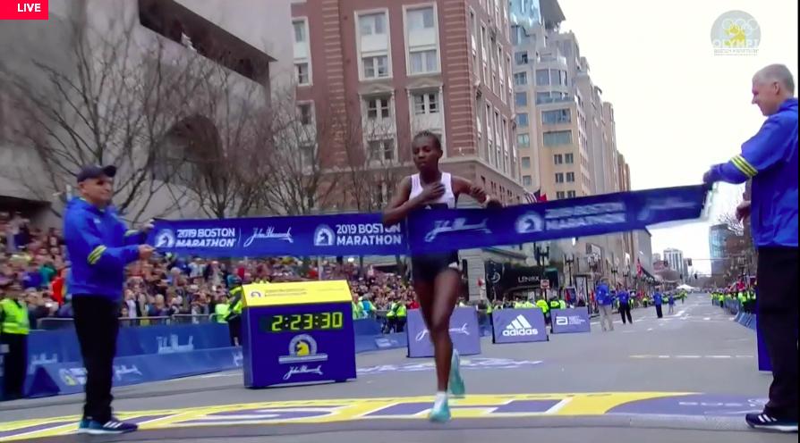 degefa ganadora maraton boston 2019