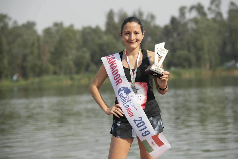 Araiz Arriola Wing for Life World Run