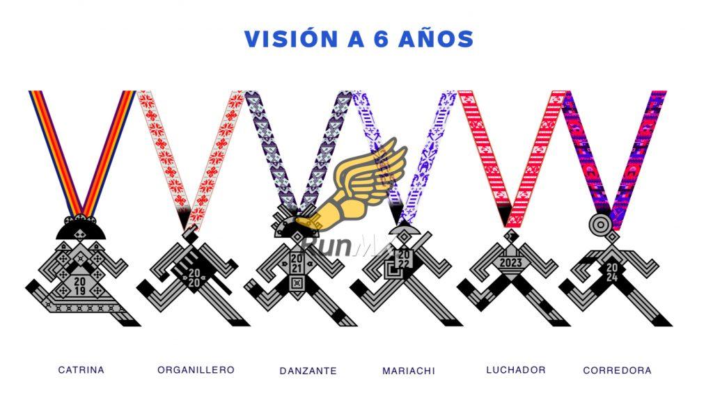 medallas medio maraton ciudad de mexico 21k cdmx