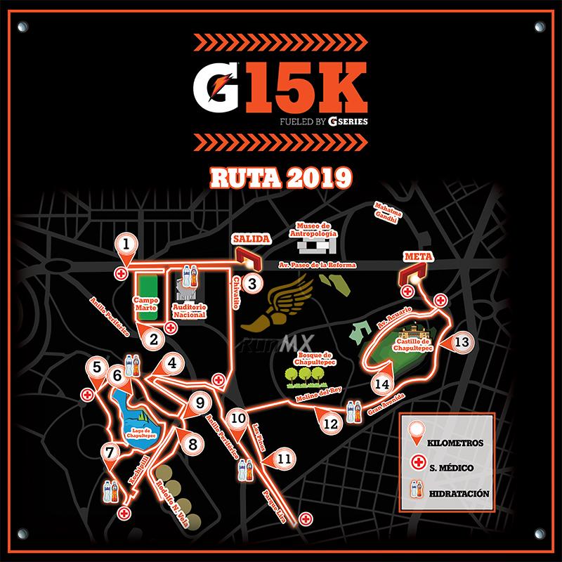 ruta gatorade g15 cdmx 2019