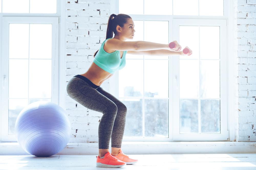 sentadilla ejercicios peso libre