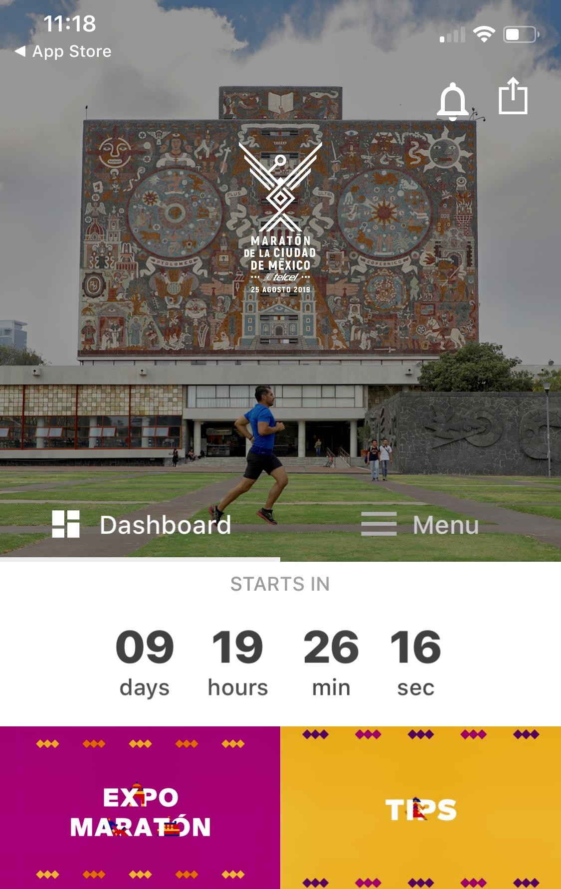 app maraton cdmx 2019