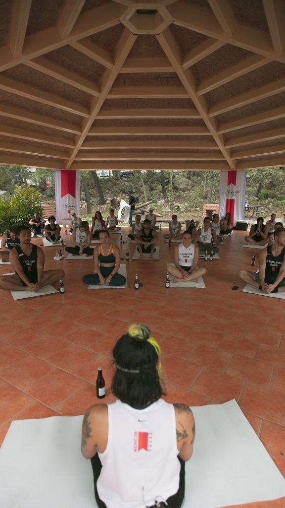 Beer Yoga michelob squad