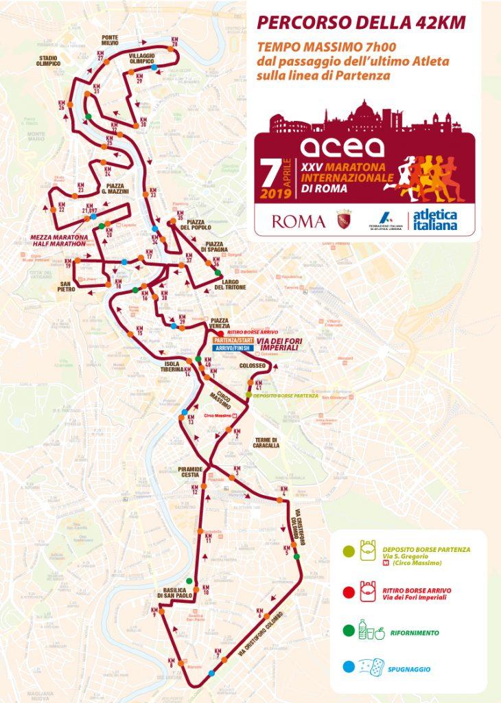 ruta maraton roma 42K