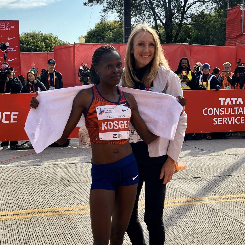 brigid kosgei paula radcliffe maraton chicago 2019