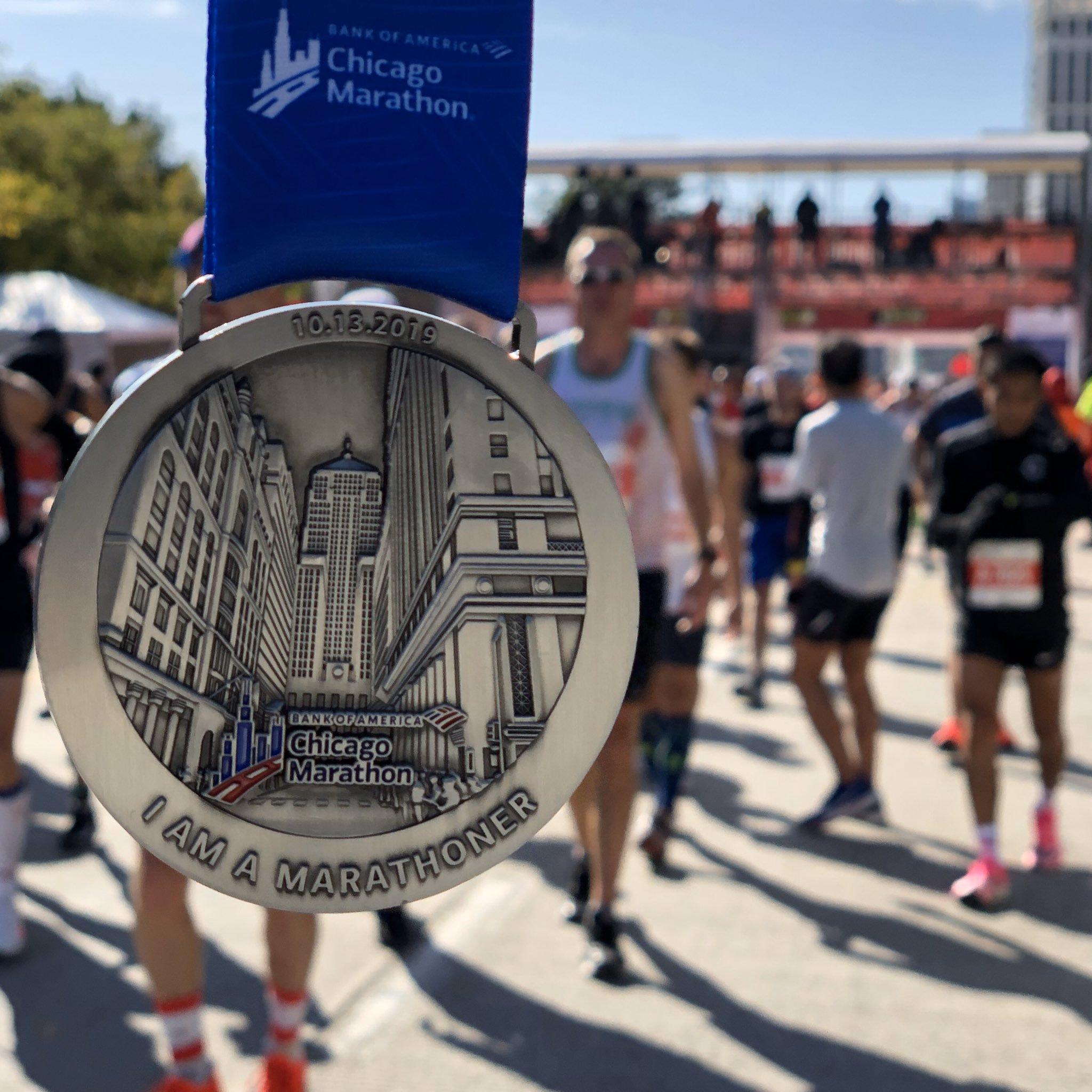 medalla maraton chicago 2019