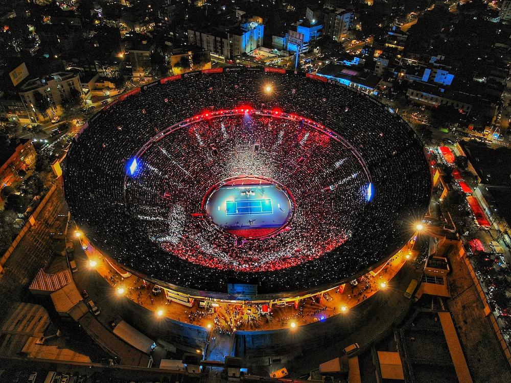 roger federer zverev the gratest match plaza mexico