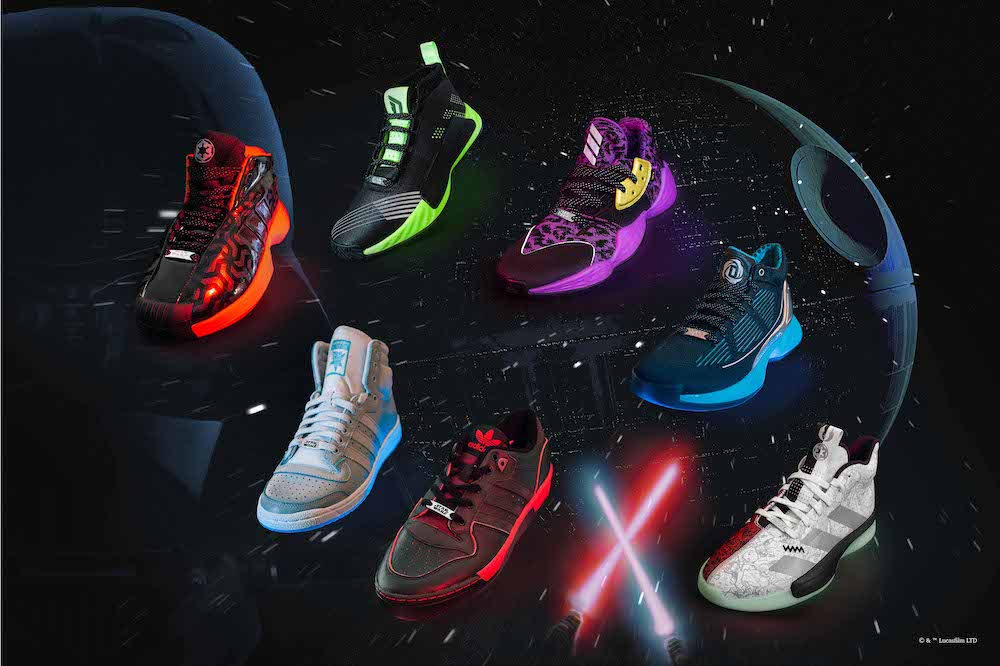 coleccion adidas x star wars basquetbol